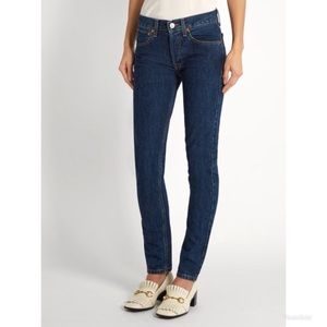 Redone Originals Straight Skinny Jean in Rinse 26